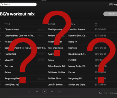 Spotify Question mark