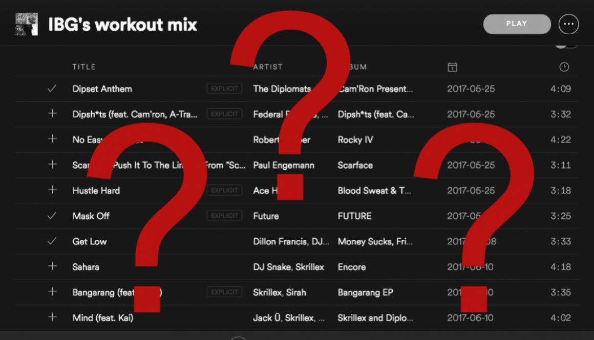 Spotify Question mark